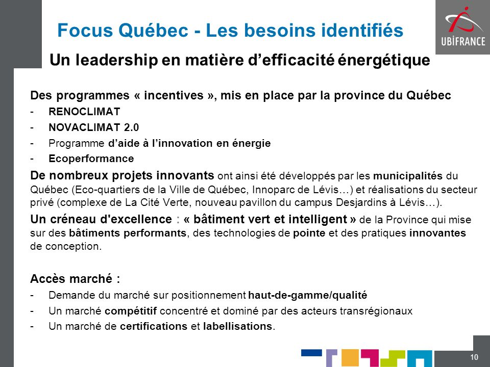 Focus Québec - Les besoins identifiés