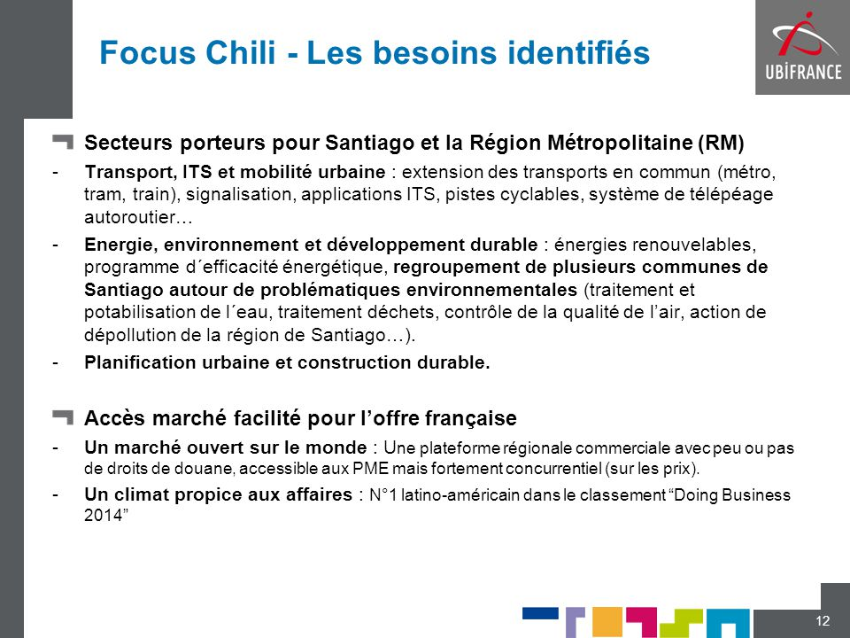 Focus Chili - Les besoins identifiés