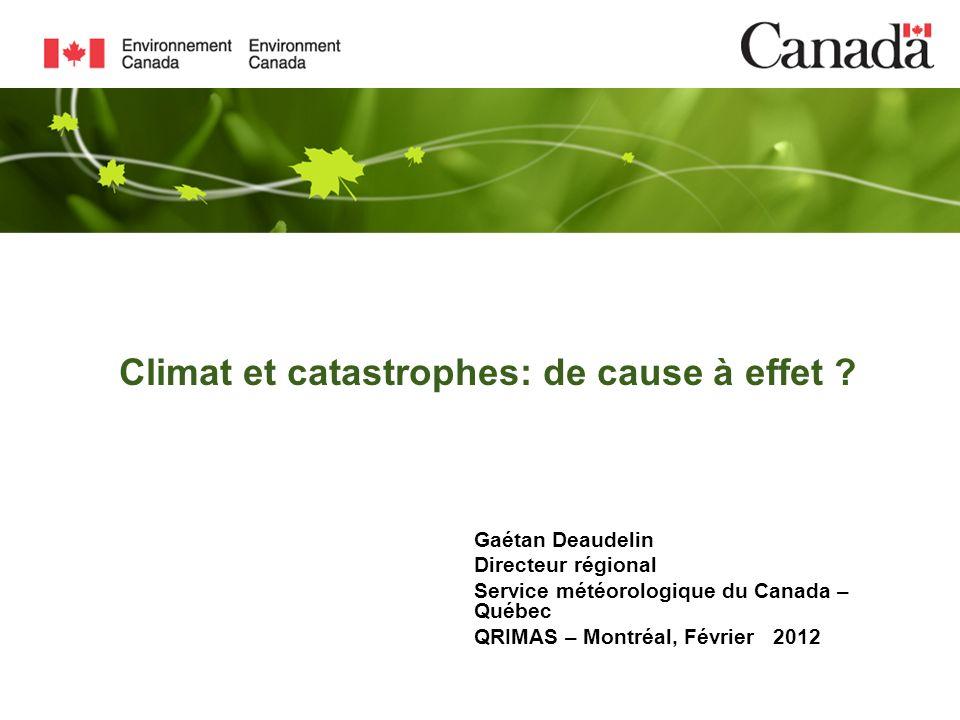 Climat et catastrophes: de cause à effet