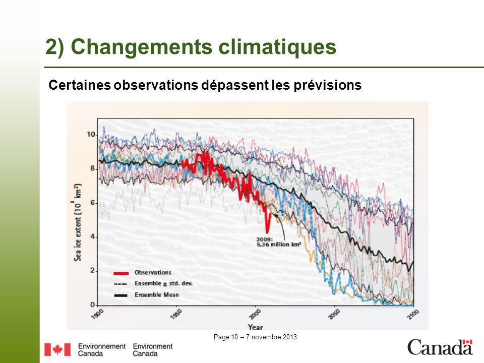 2) Changements climatiques