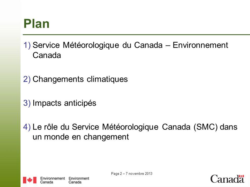 Plan Service Météorologique du Canada – Environnement Canada