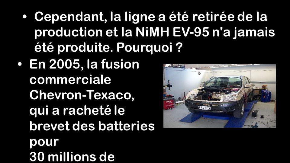 Cependant, la ligne a été retirée de la production et la NiMH EV-95 n a jamais été produite. Pourquoi