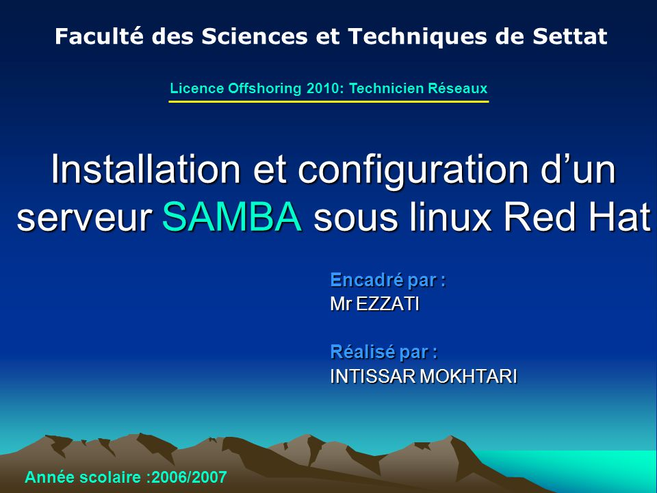 Installation et configuration d'un serveur SAMBA sous linux Red Hat