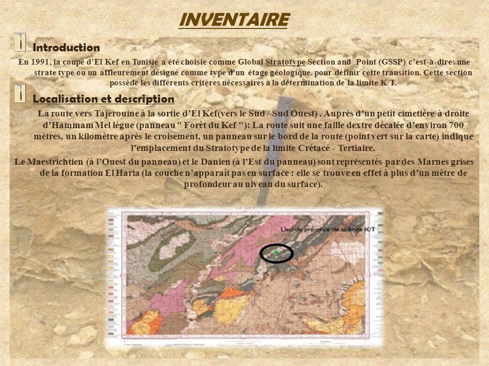 INVENTAIRE Introduction Localisation et description