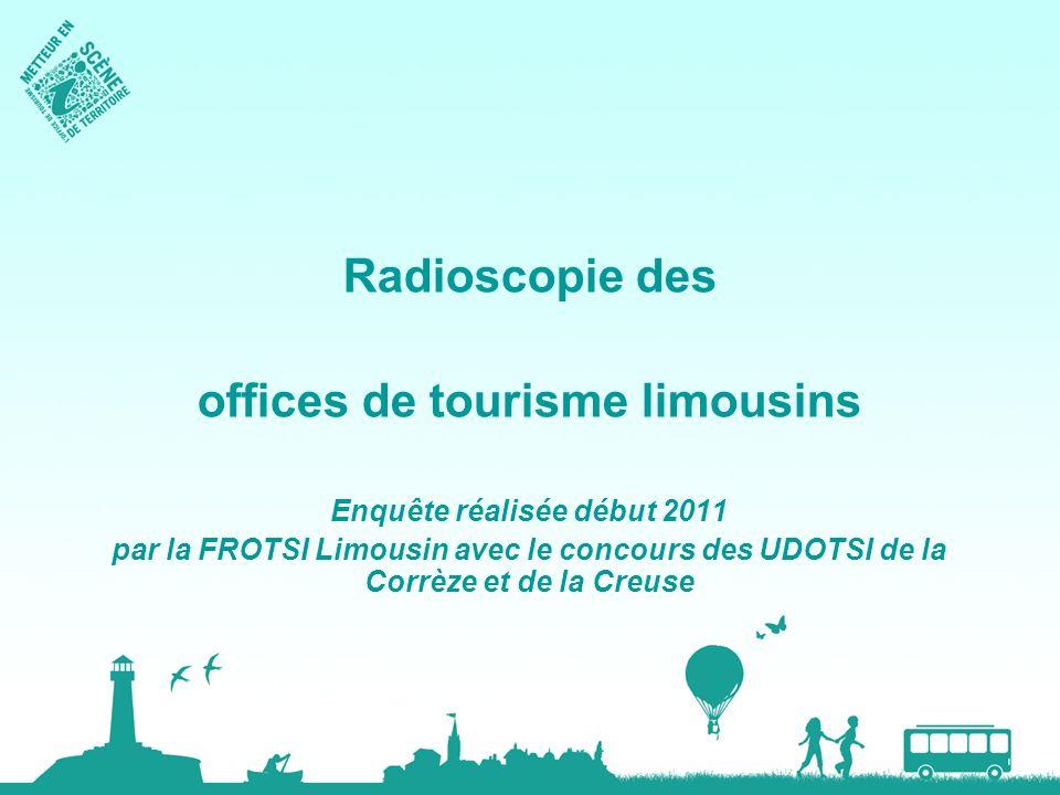 offices de tourisme limousins Enquête réalisée début 2011