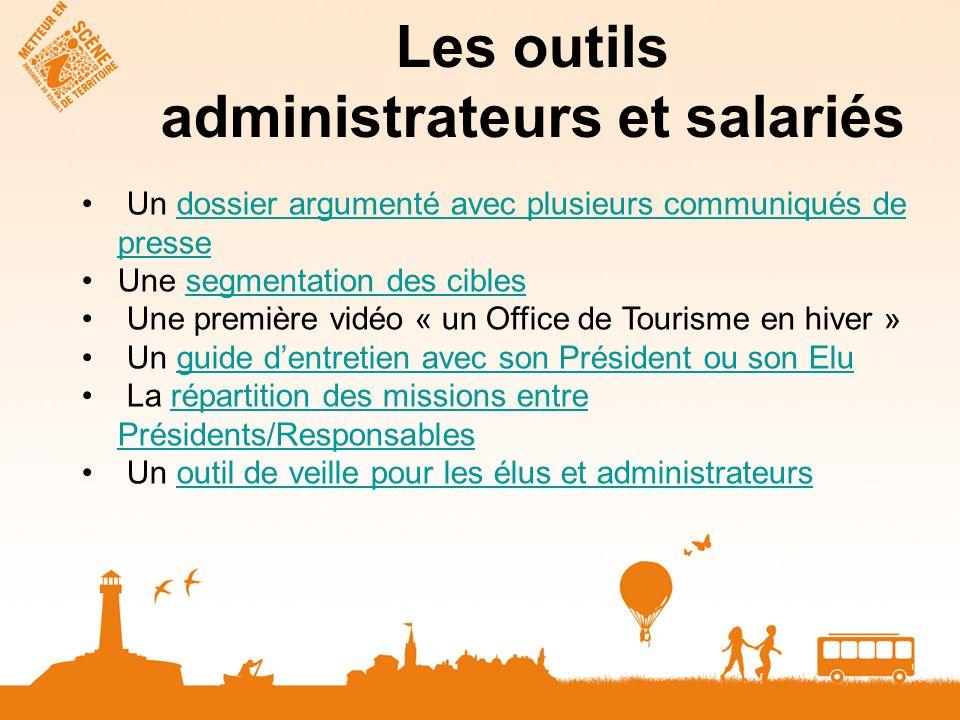 Les outils administrateurs et salariés