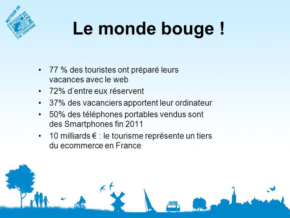 Le monde bouge ! 77 % des touristes ont préparé leurs vacances avec le web. 72% d'entre eux réservent.