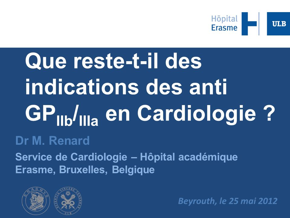 Que reste-t-il des indications des anti GPIIb/IIIa en Cardiologie