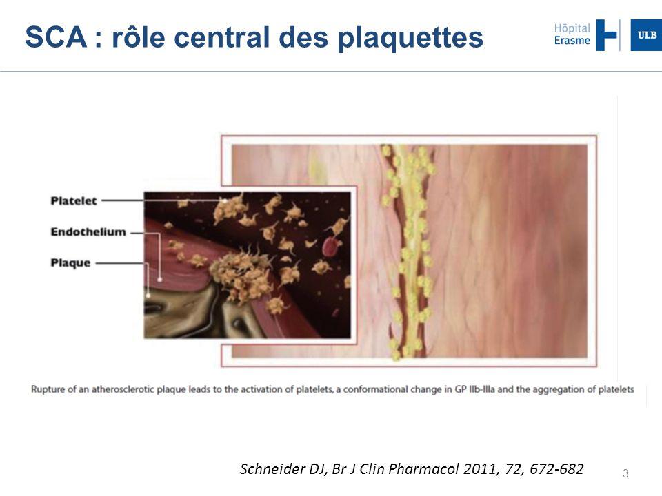SCA : rôle central des plaquettes