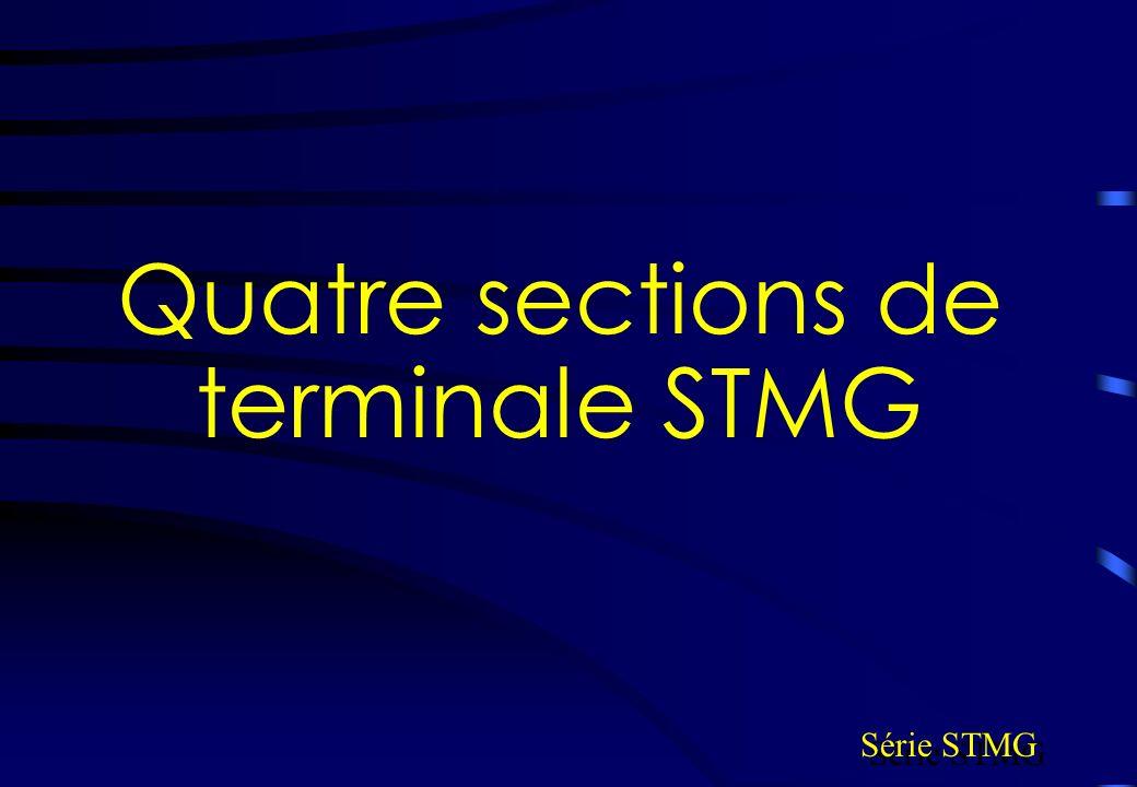 Quatre sections de terminale STMG