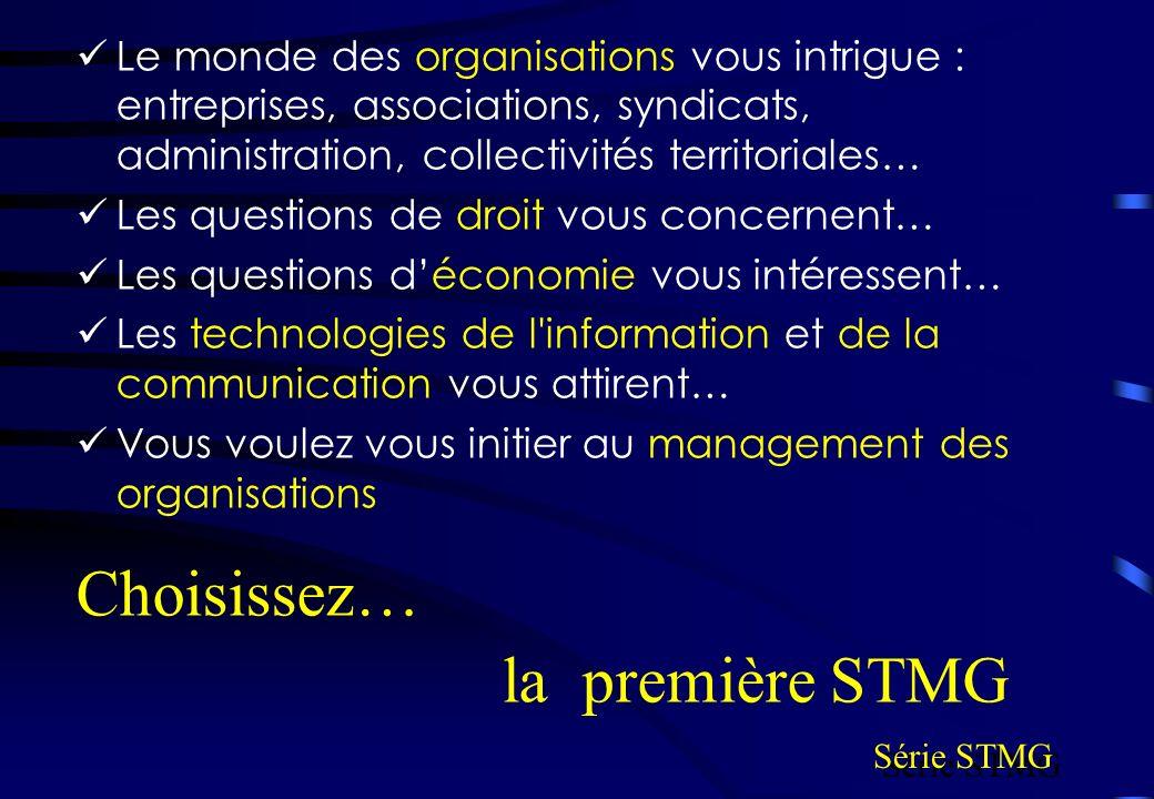 Choisissez… la première STMG