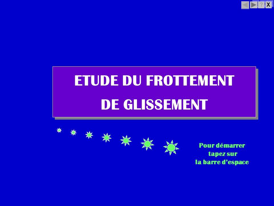 ETUDE DU FROTTEMENT DE GLISSEMENT