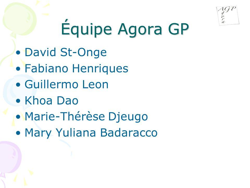 Équipe Agora GP David St-Onge Fabiano Henriques Guillermo Leon