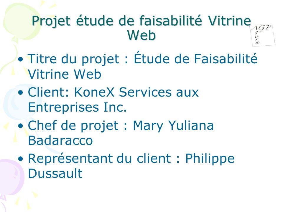 Projet étude de faisabilité Vitrine Web