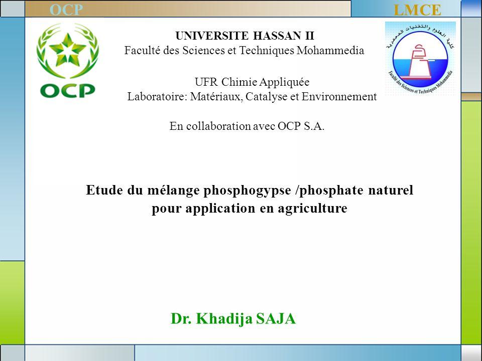 OCP LMCE Dr. Khadija SAJA