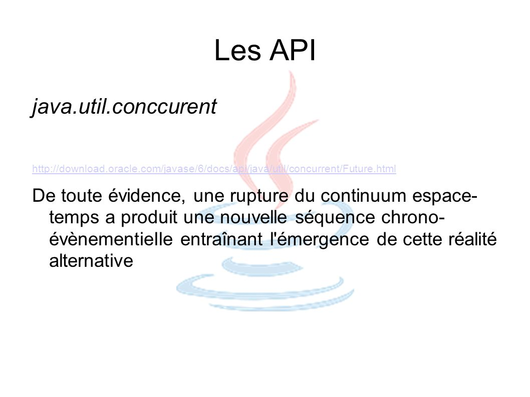 Les API java.util.conccurent