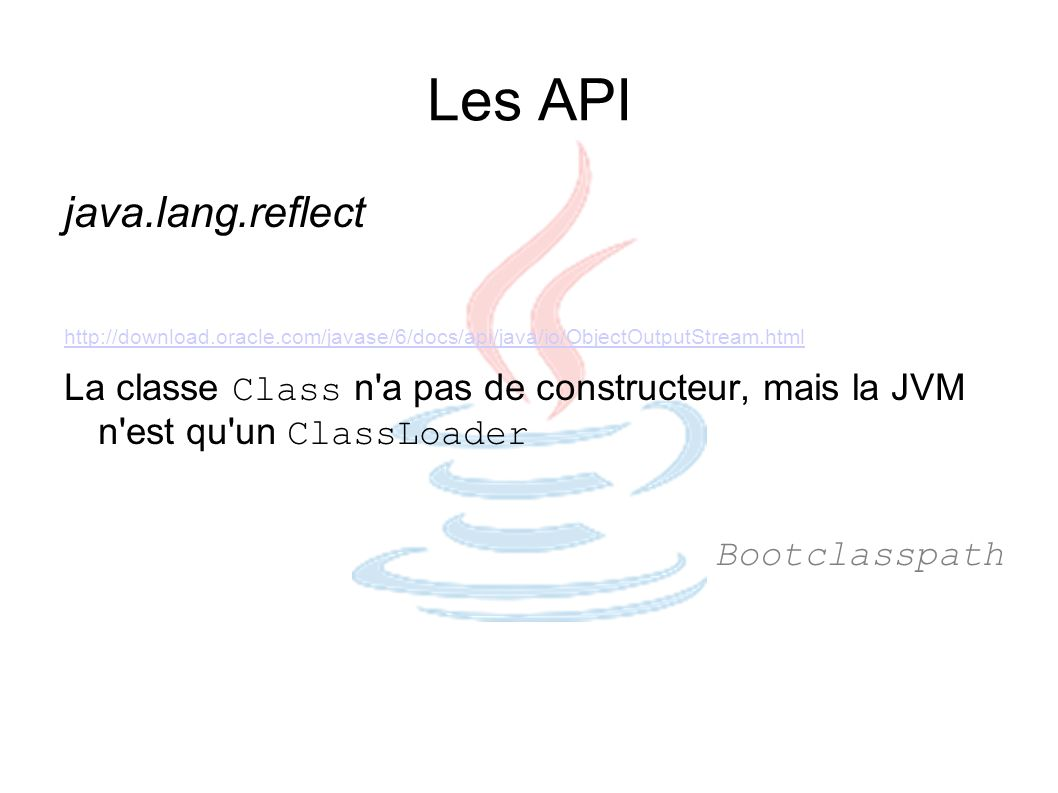Les API java.lang.reflect