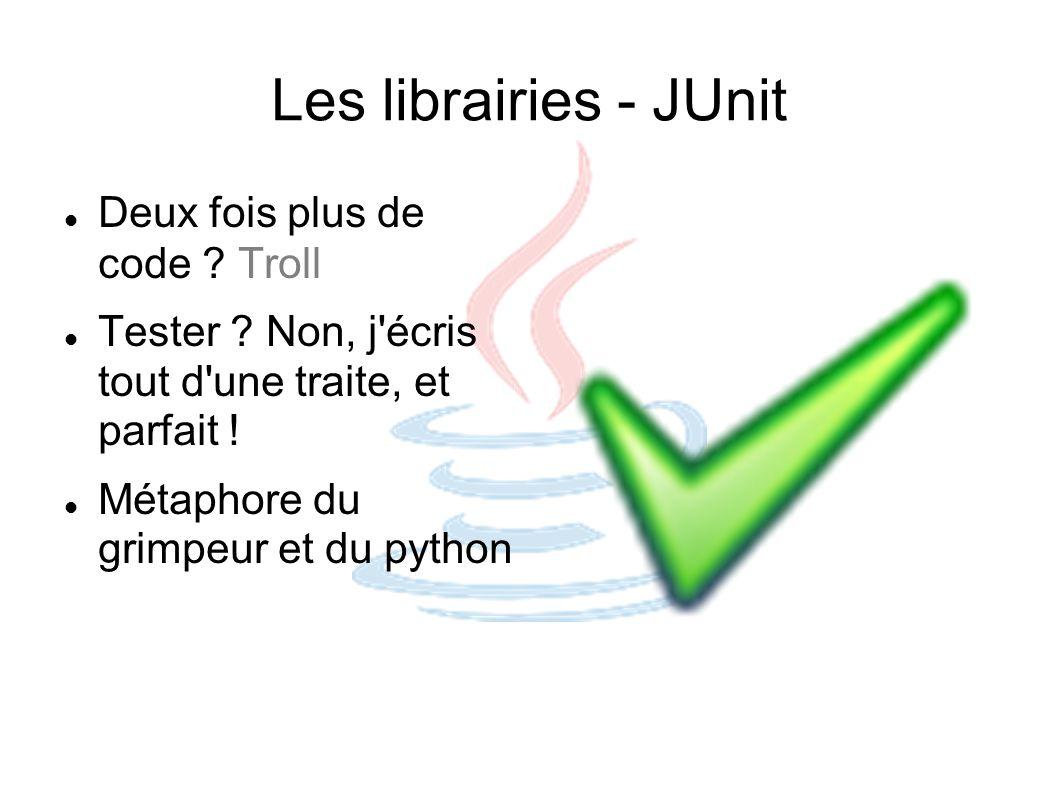 Les librairies - JUnit Deux fois plus de code Troll