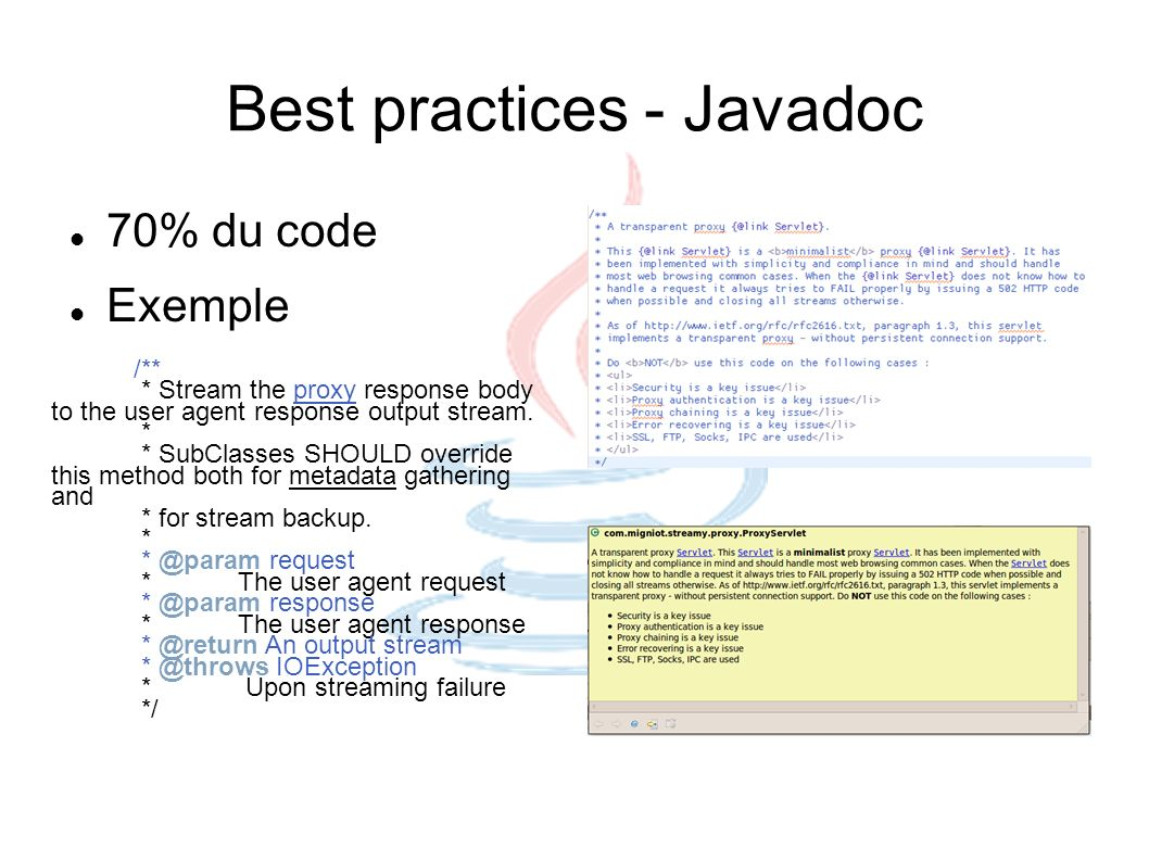 Best practices - Javadoc