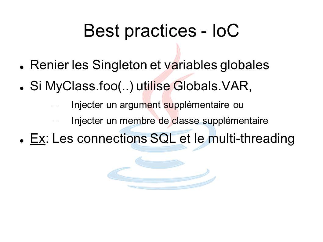 Best practices - IoC Renier les Singleton et variables globales