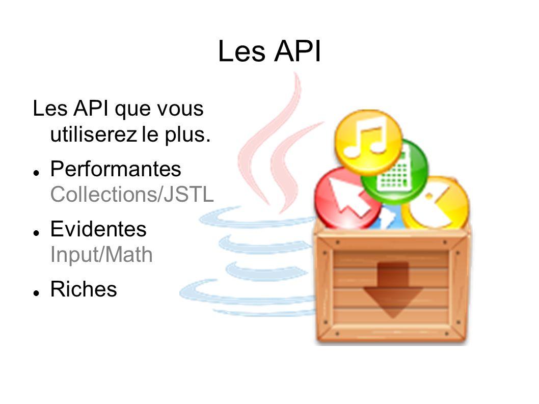 Les API Les API que vous utiliserez le plus.