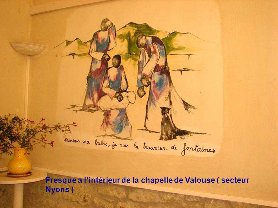 Fresque a l'intérieur de la chapelle de Valouse ( secteur Nyons )