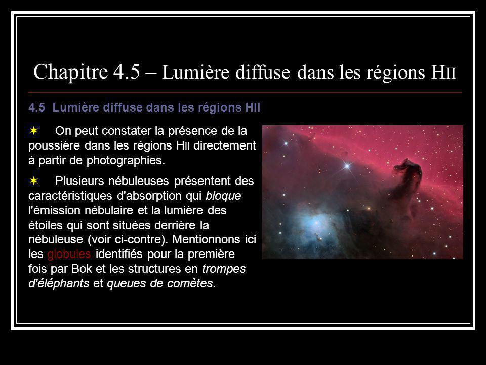 Chapitre 4.5 – Lumière diffuse dans les régions HII