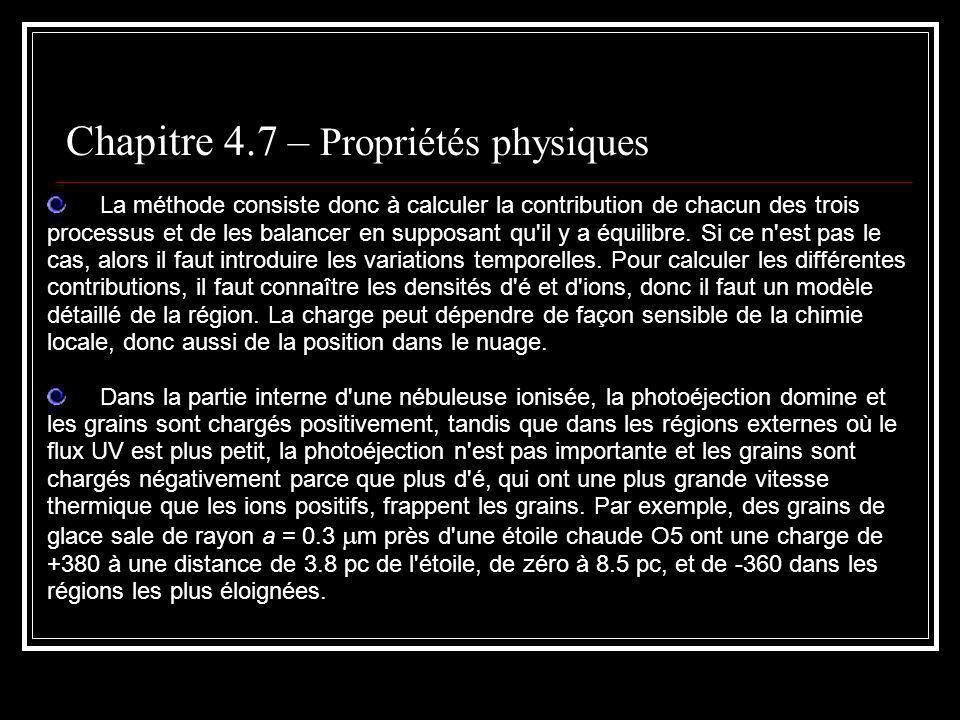 Chapitre 4.7 – Propriétés physiques