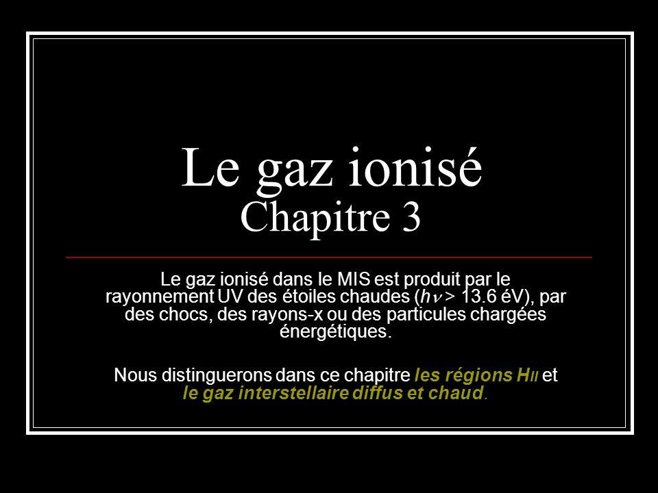 Le gaz ionisé Chapitre 3