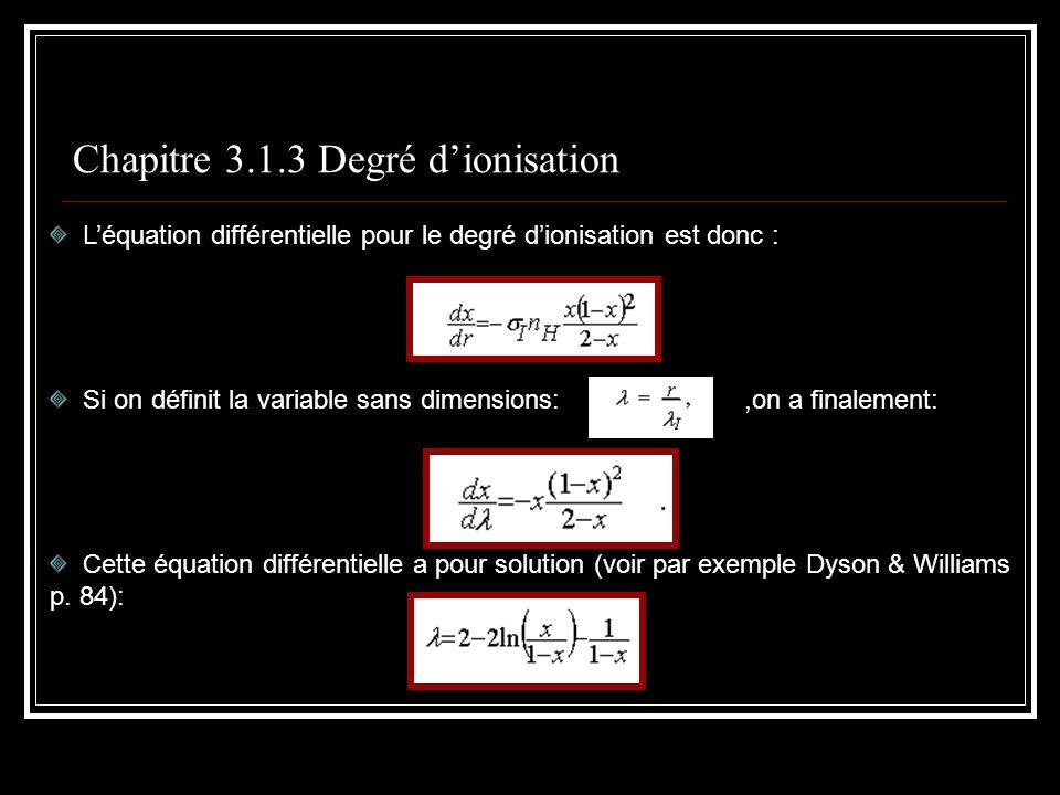 Chapitre 3.1.3 Degré d'ionisation
