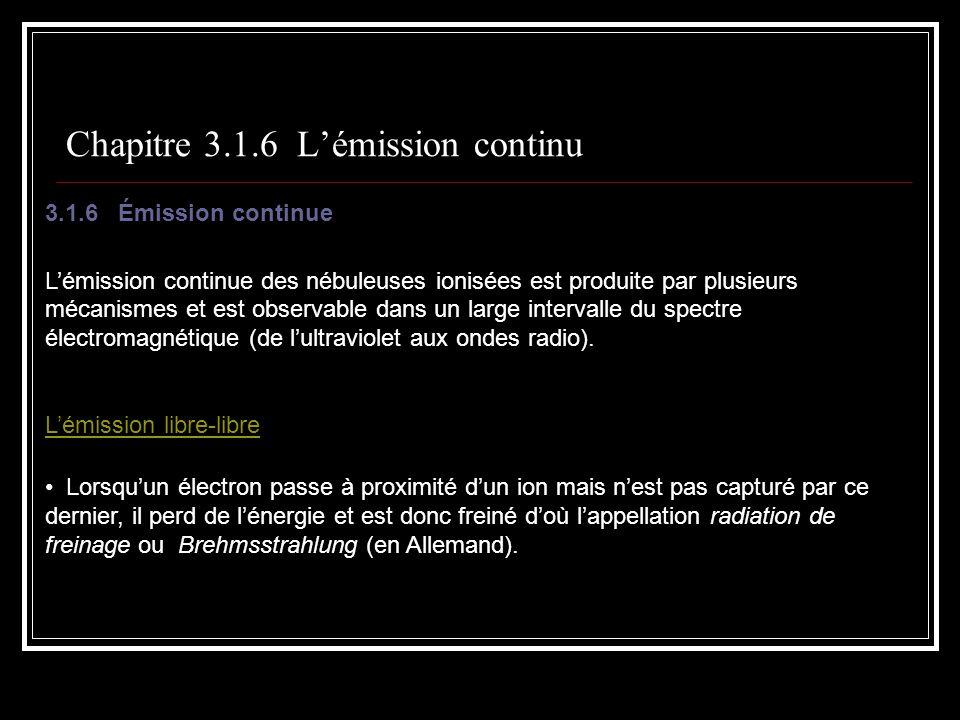Chapitre 3.1.6 L'émission continu