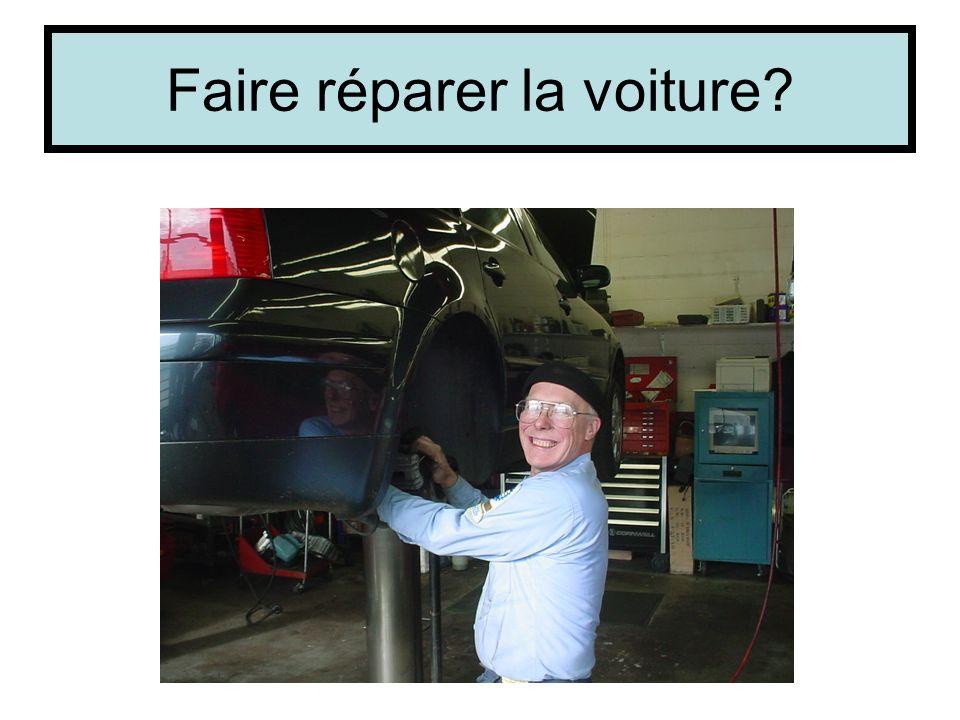 Faire réparer la voiture