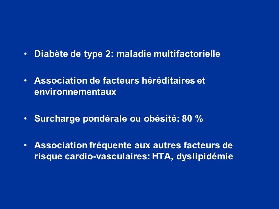 Diabète de type 2: maladie multifactorielle