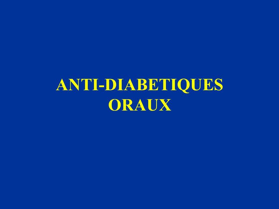 ANTI-DIABETIQUES ORAUX