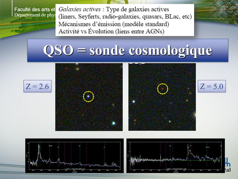 QSO = sonde cosmologique