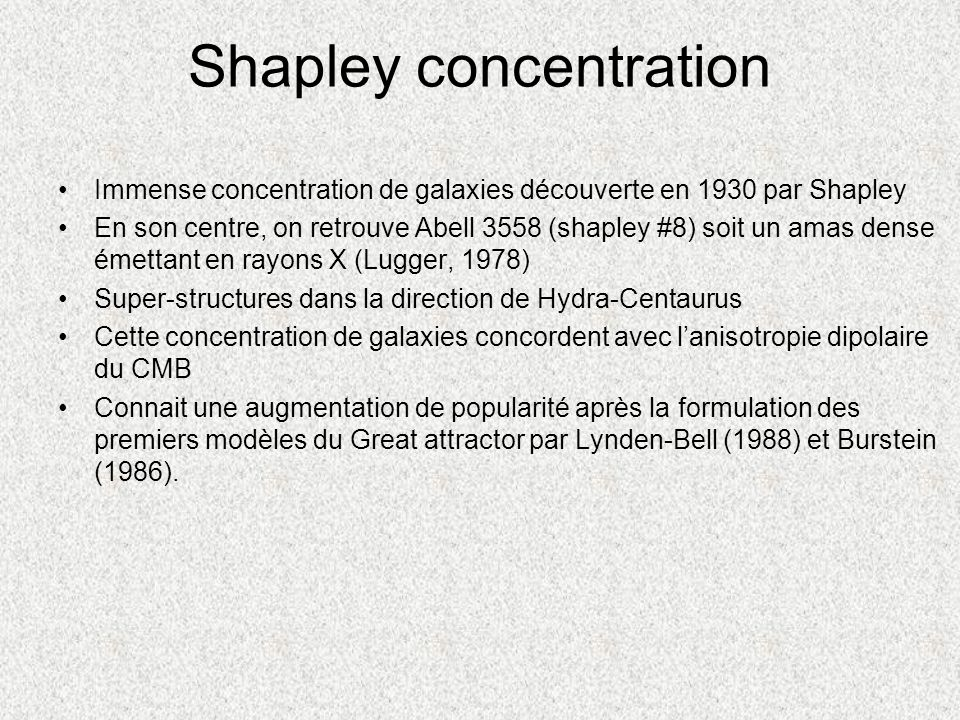 Shapley concentration