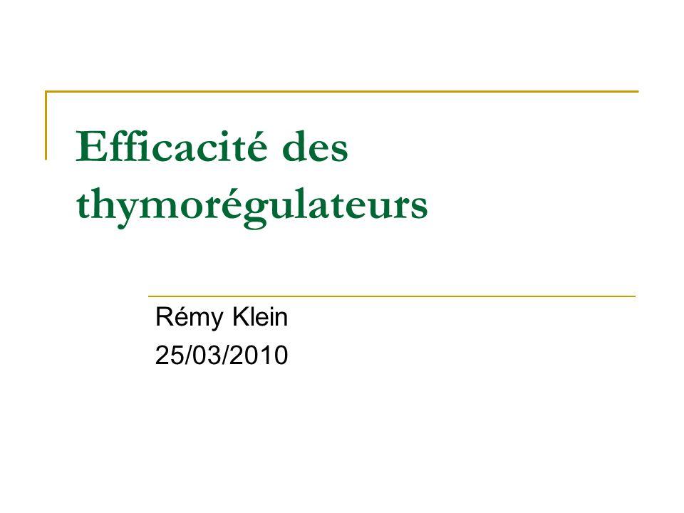 Efficacité des thymorégulateurs