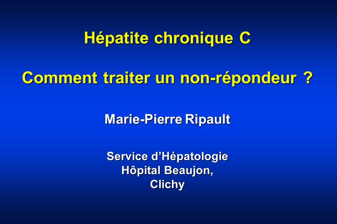 Hépatite chronique C Comment traiter un non-répondeur
