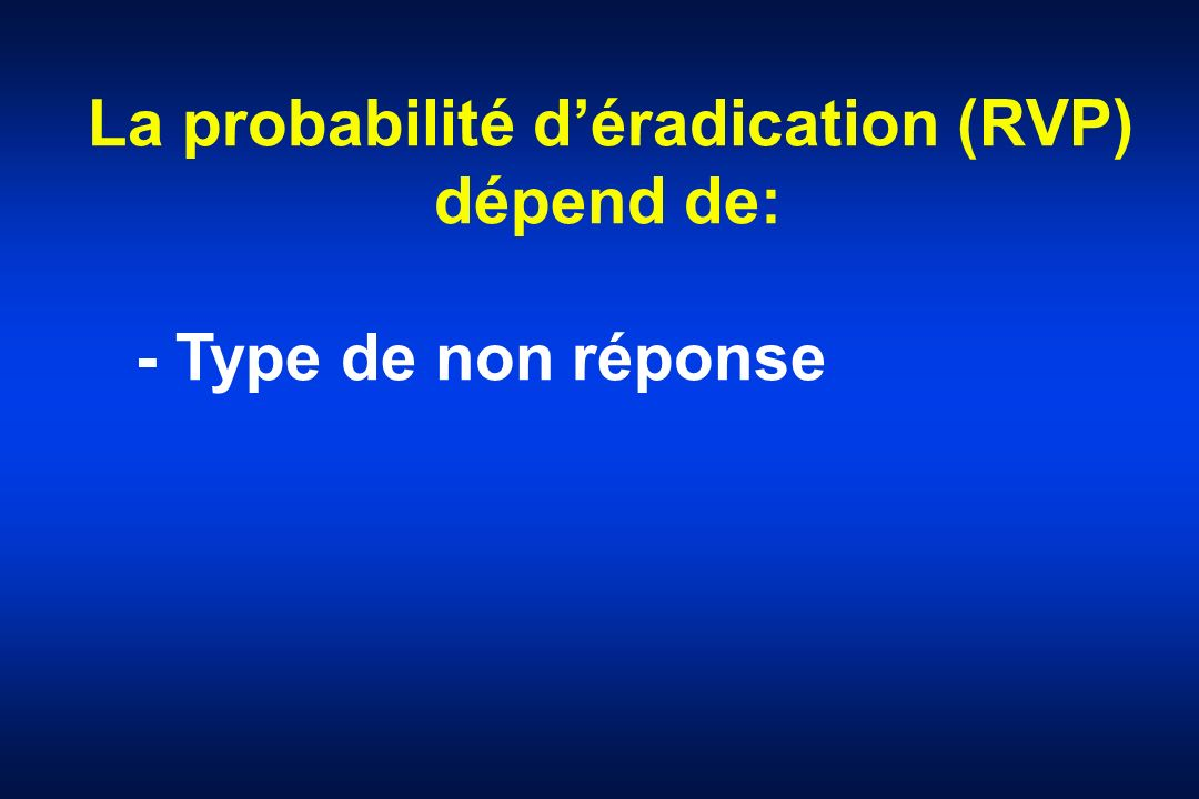 La probabilité d'éradication (RVP)