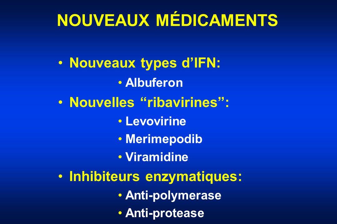 NOUVEAUX MÉDICAMENTS Nouveaux types d'IFN: Nouvelles ribavirines :
