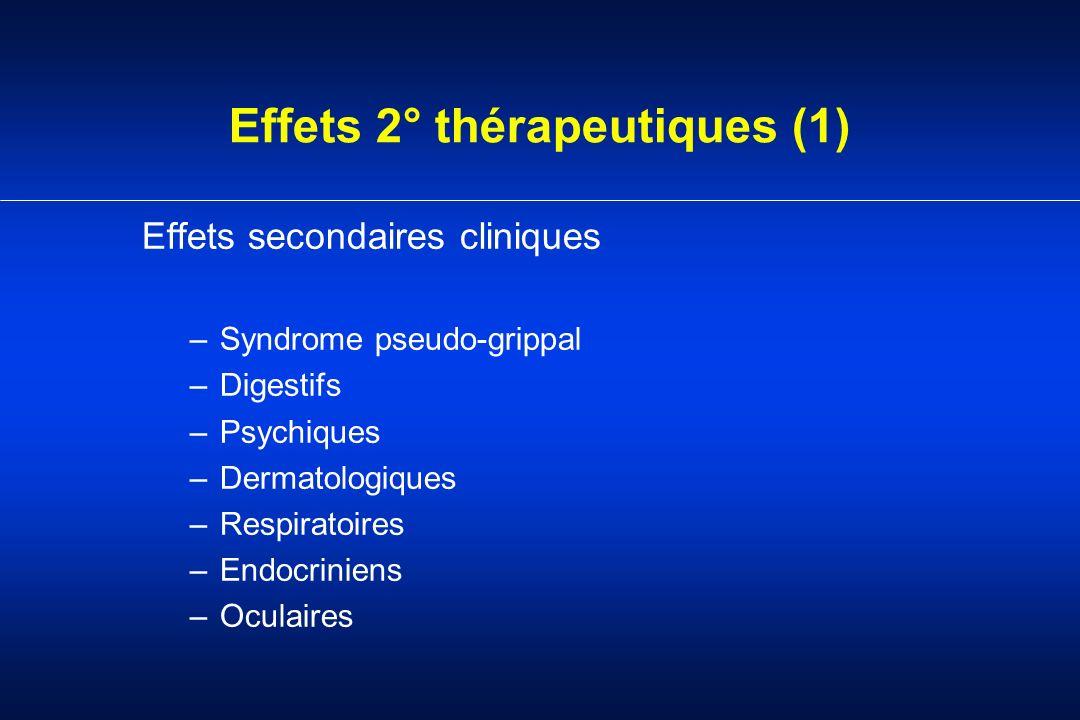Effets 2° thérapeutiques (1)