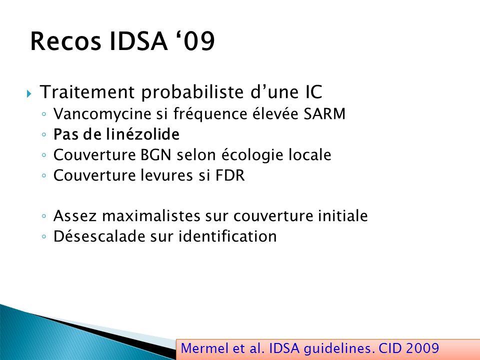 Recos IDSA '09 Traitement probabiliste d'une IC