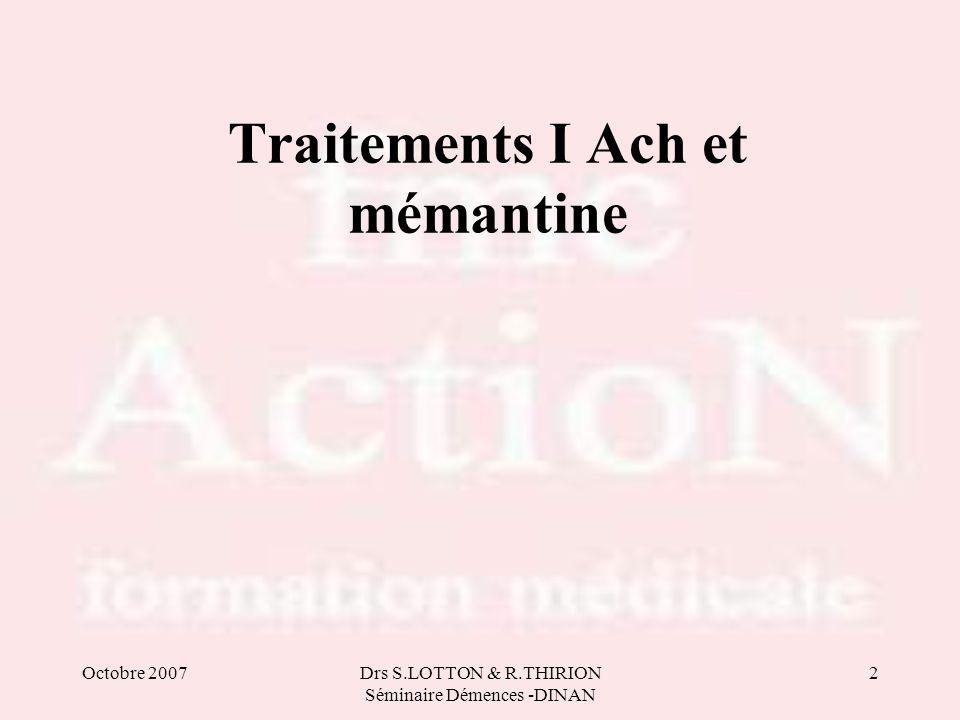 Traitements I Ach et mémantine