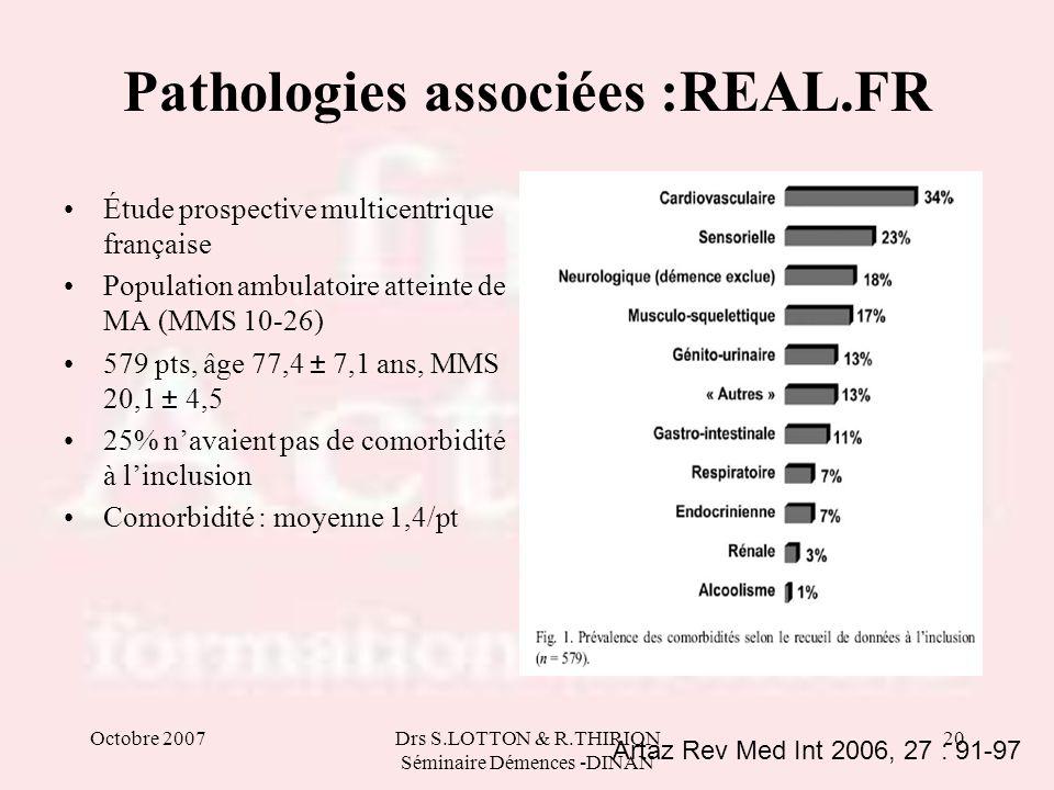 Pathologies associées :REAL.FR