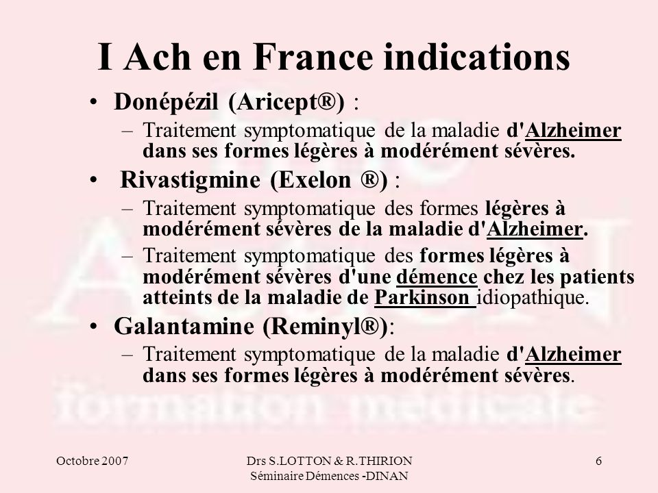I Ach en France indications