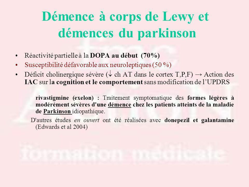 Démence à corps de Lewy et démences du parkinson