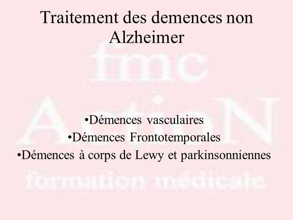 Traitement des demences non Alzheimer
