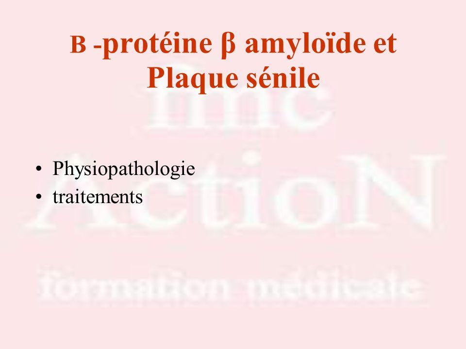 B -protéine β amyloïde et Plaque sénile