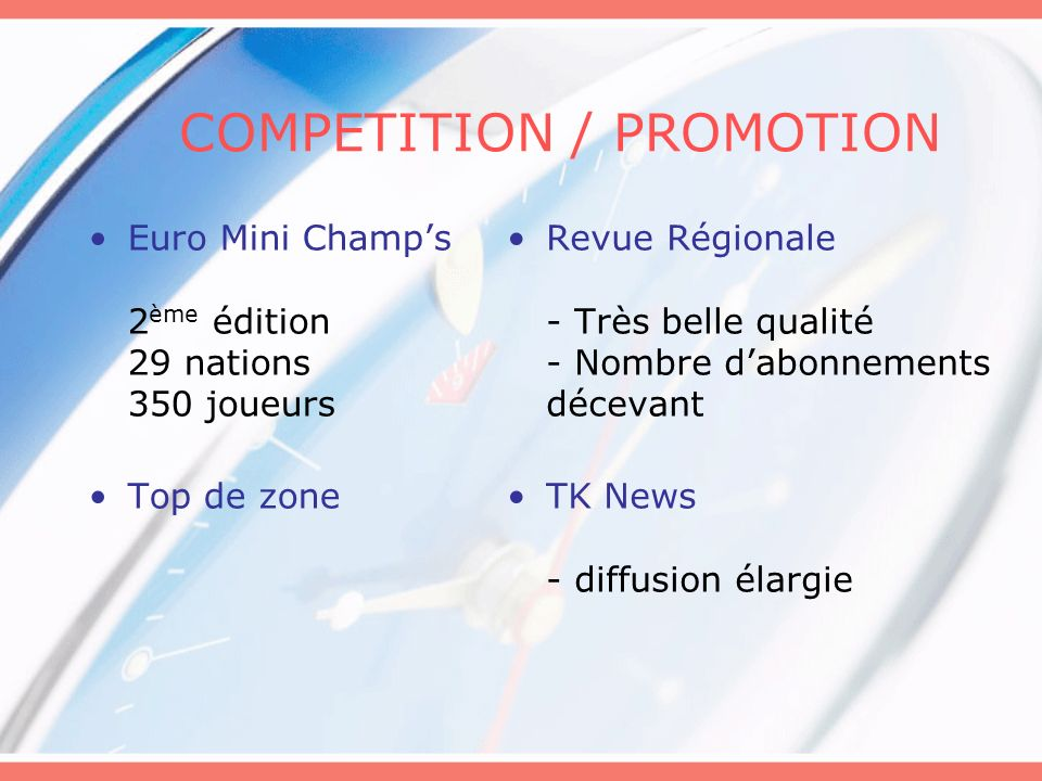 COMPETITION / PROMOTION