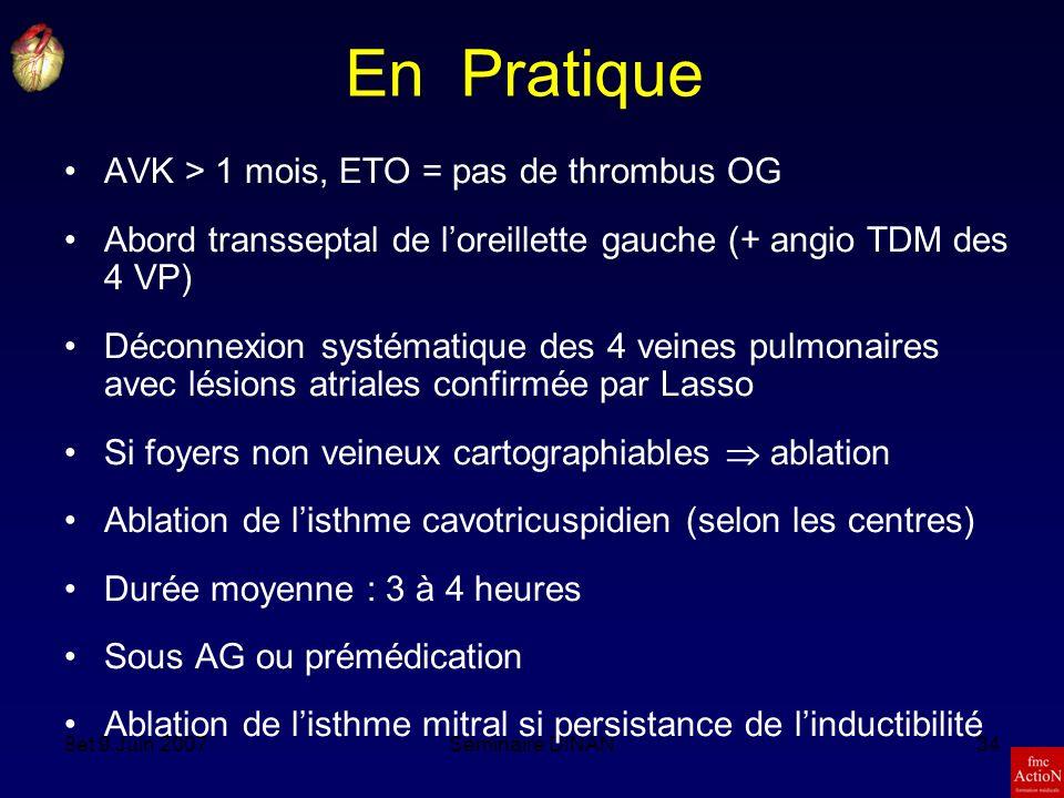 En Pratique AVK > 1 mois, ETO = pas de thrombus OG